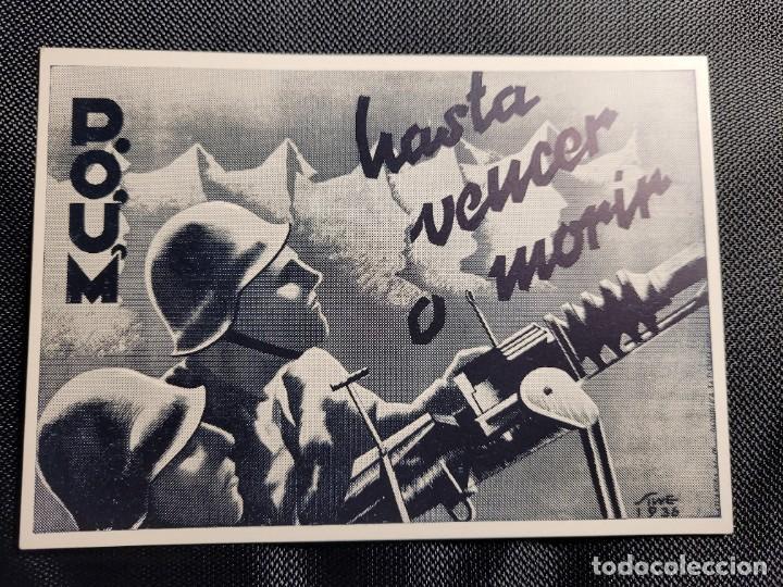 TARJETA POSTAL GUERRA CIVIL. POUM HASTA VENCER O MORIR (Postales - Postales Temáticas - Guerra Civil Española)