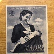 Postales: SECCIÓN FEMENINA LUCHA CONTRA MORTALIDAD INFANTIL. Lote 238839110