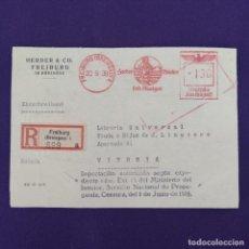 Postales: ANTIGUO CERTIFICADO ALEMAN CON DOS CENSURAS MILITARES. ORIGINAL.. Lote 239826880