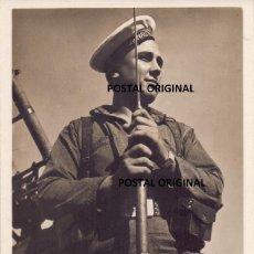 Postales: RARA POSTAL MARINERO JAIME I DAVE SEYMOUR CHIM COMISSARIAT CATALUNYA GUERRA CIVIL 1936. Lote 242140900