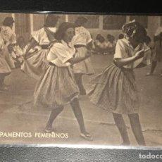 Postales: FRENTE DE JUVENTUDES , FALANGE , CAMPAMENTOS FEMENINOS. Lote 243881210