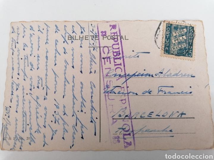 Postales: LISBOA A BARCELONA. GUERRA CIVIL. JULIO 1937. POSTAL CON CENSURA REPUBLICANA - Foto 2 - 244637910