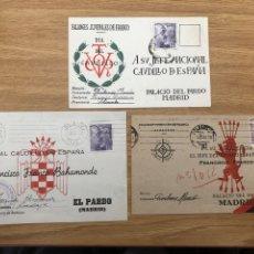 Postales: 3 POSTALES FRENTE JUVENTUDES CIRCULADAS FALANGE. Lote 245424520