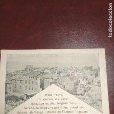 Postales: TARJETA POSTAL GUERRA CIVIL. MORA DE EBRE. SRI. Lote 252795645
