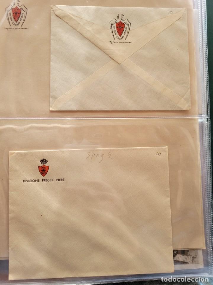 LOT DE 2 CARTAS Y DOS HOJAS DE ITALIANOS EN ESPAÑA. GUERRA CIVIL (Postales - Postales Temáticas - Guerra Civil Española)