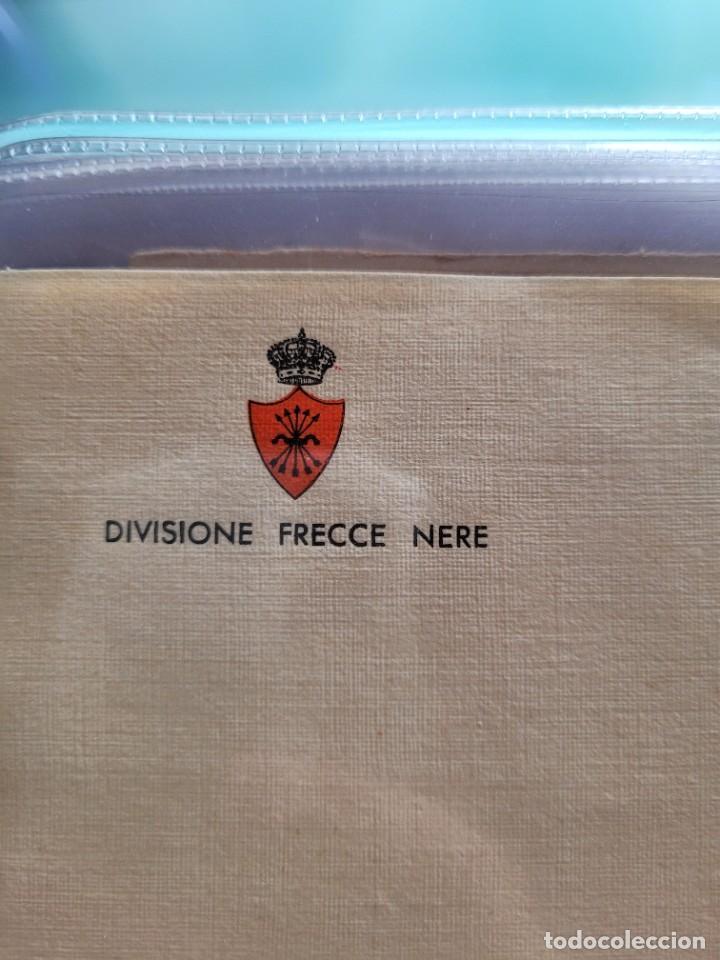 Postales: lot de 2 cartas y dos hojas de italianos en España. Guerra Civil - Foto 3 - 252811475