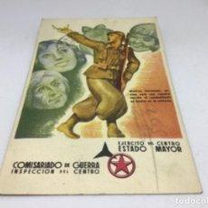 Postales: REPUBLICA - COMISARIADO DE GUERRA INSPECCION DEL CENTRO - TARJETA POSTAL DE CAMPAÑA - ESCRITA. Lote 254249665