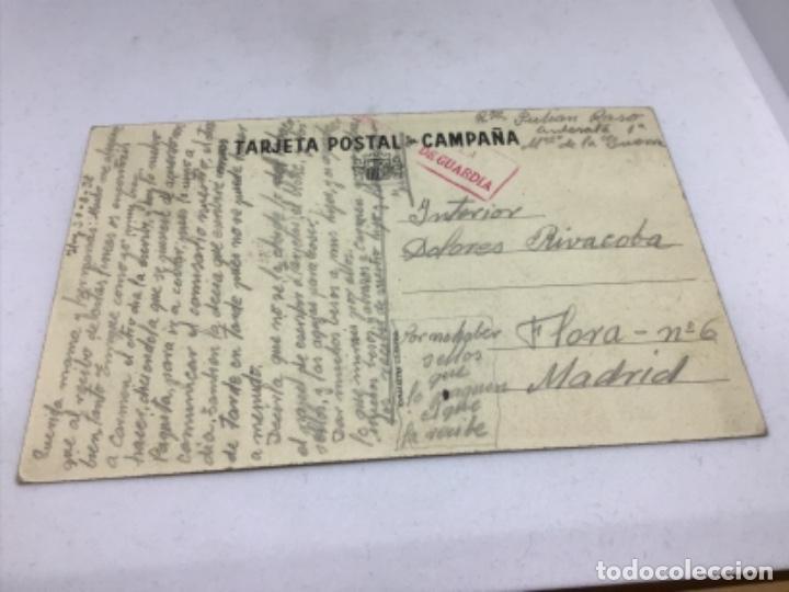 Postales: REPUBLICA - COMISARIADO DE GUERRA INSPECCION DEL CENTRO - TARJETA POSTAL DE CAMPAÑA - ESCRITA - Foto 3 - 254249665