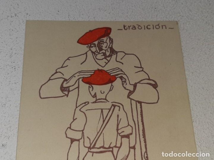 Postales: ANTIGUA POSTAL GUERRA CIVIL ESPAÑOLA - REQUETE - CARLISTA - TRADICION AUTORIZA LA J.P.P DE NAVARRA - Foto 2 - 256122375