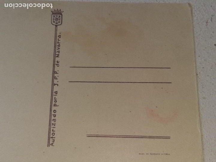 Postales: ANTIGUA POSTAL GUERRA CIVIL ESPAÑOLA - REQUETE - CARLISTA - AUTORIZADO LA J.P.P DE NAVARRA - Foto 5 - 256122475