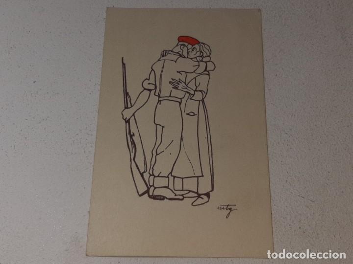 Postales: ANTIGUA POSTAL GUERRA CIVIL ESPAÑOLA - REQUETE - CARLISTA - AUTORIZADO LA J.P.P DE NAVARRA - Foto 2 - 256122640