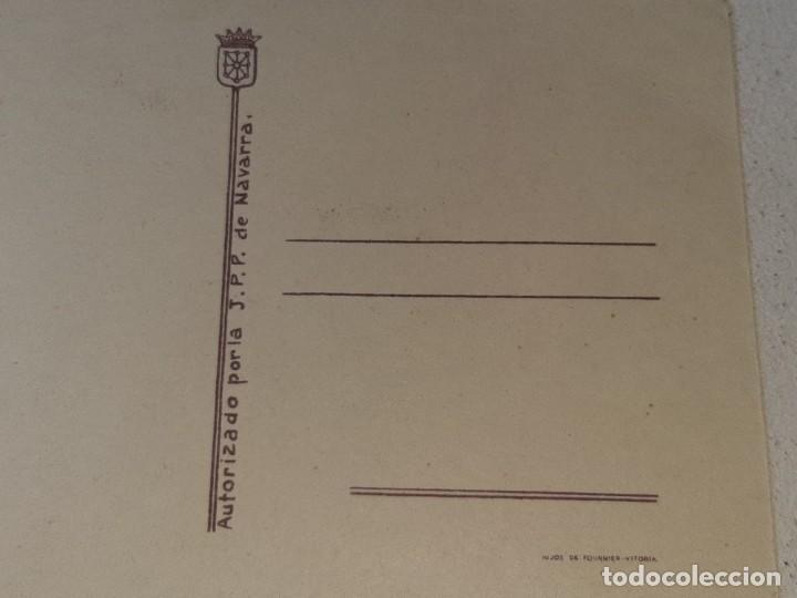 Postales: ANTIGUA POSTAL GUERRA CIVIL ESPAÑOLA - REQUETE - CARLISTA - AUTORIZADO LA J.P.P DE NAVARRA - Foto 6 - 256122640