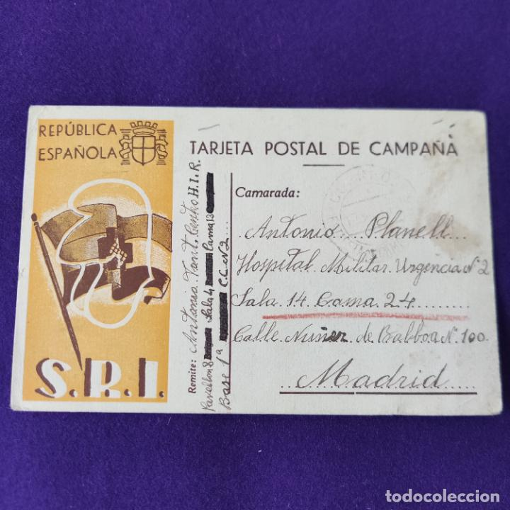 POSTAL GUERRA CIVIL. REPUBLICA ESPAÑOLA S.R.I. (SOCORRO ROJO INTERNACIONAL). CIRCULADA EN 1938. (Postales - Postales Temáticas - Guerra Civil Española)