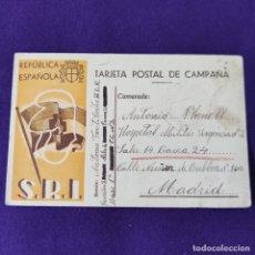 Postales: POSTAL GUERRA CIVIL. REPUBLICA ESPAÑOLA S.R.I. (SOCORRO ROJO INTERNACIONAL). CIRCULADA EN 1938.. Lote 262573840