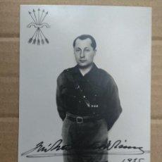 Cartoline: JOSE ANTONIO PRIMO DE RIVERA, FIRMA IMPRESA 1935. POSTAL FOTOGRAFICA. SKOGLER, ZARAGOZA. FALANGE... Lote 264062315