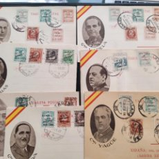Cartes Postales: LOTE 7 POSTALES BANDO NACIONAL.GUERRA CIVIL. Lote 267488009