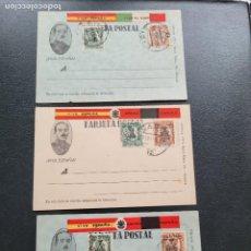 Cartes Postales: LOTE 3 POSTALES PATRIOTICAS BANDO NACIONAL. GUERRA CIVIL. Lote 267488134