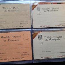 Cartes Postales: LOTE 4 POSTALES DE CAMPAÑA SIN USAR. BANDO NACIONAL . GUERRA CIVIL. Lote 267488274