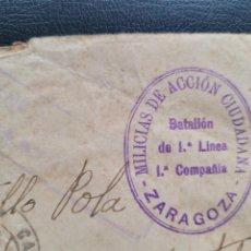 Postales: MILICIAS DE ACCION CIUDADANA. ZARAGOZA. BANDO NACIONAL. GUERRA CIVIL. Lote 267488529