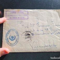 Postales: CARTA CON CENSURA EJERCITO DEL CENTRO. BANDO NACIONAL. GUERRA CIVIL.. Lote 267495144