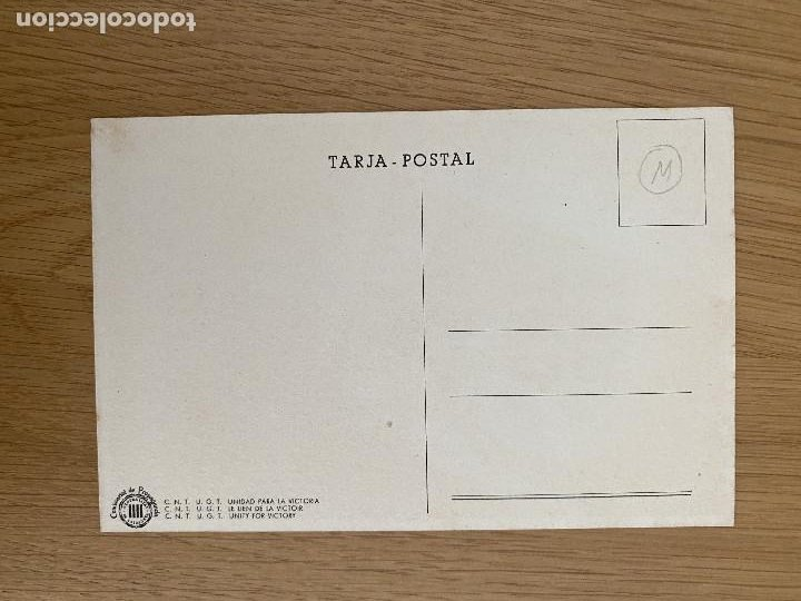 Postales: Tarjeta postal original guerra civil. UNITAT OBRERA.... COMISSARIAT DE PROPAGANDA - Foto 2 - 268918454