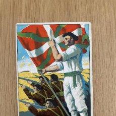 Postales: POSTAL ORIGINAL GUERRA CIVIL COMITÉ AYUDA A EUZKADI Y NORTE. Lote 268918649