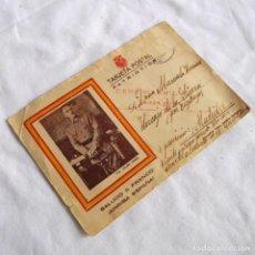 Postales: TARJETA PATRIÓTICA 1929, DEL CUARTEL ALMANSA Nº 15 TARRAGONA A HORCAJO DE LA SIERRA MADRID. Lote 269264458