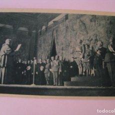 Postales: POSTAL EL DIA DEL CAUDILLO DE 1938. ARZOBISPO LEE ANTE FRANCO MENSAJE DE LA IGLESIA ESPAÑOLA.. Lote 270542553