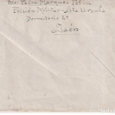 Postales: SOBRE PRISION MILITAR SANTA URSULA JAEN A BATALLON ZAPADORES ZARAGOZA GUERRA CIVIL. Lote 270594828