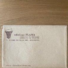 Postales: SOBRE DE POSTALES DE LA SERIE FLAMA (CARTELES A COLOR) COMISSARIAT DE PROPAGANDA. GUERRA CIVIL. Lote 270689988