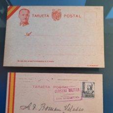 Cartes Postales: LOTE DE 2 POSTALES DEL BANDO NACIONAL. UNA DE FRANCO Y UNA CIRCULADA.GUERRA CIVIL. Lote 276214083