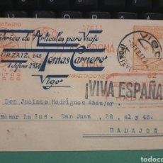 Postales: TOMAS CARNERO .VIGO .GUERRA CIVIL 1937. Lote 277286648