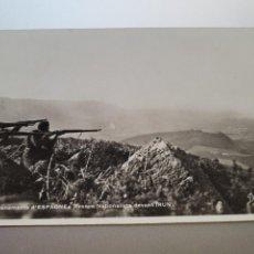 Postales: TARJETA POSTAL FRANCESA SOBRE EL ATAQUE NACIONALISTA SOBRE IRUN. GUERRA CIVIL ESPAÑOLA. Lote 278521123