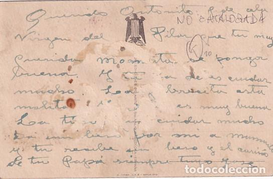 Postales: Todos al Santuario de la Raza Virgen del Pilar. Oleo de R. Izquierdo. Escrita sin circular. - Foto 2 - 287685663