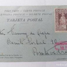 Postales: TARJETA POSTAL, GOBIERNO CIVIL DE LA CORUÑA, CENSURA MILITAR LA CORUÑA, 6 - 9 - 1937, ESCRITA. Lote 288599623