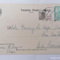 Postales: TARJETA POSTAL, SRA FANNY DE ASPE SANJURJO, LA CORUÑA, CIRCULADA 1948. Lote 288634883