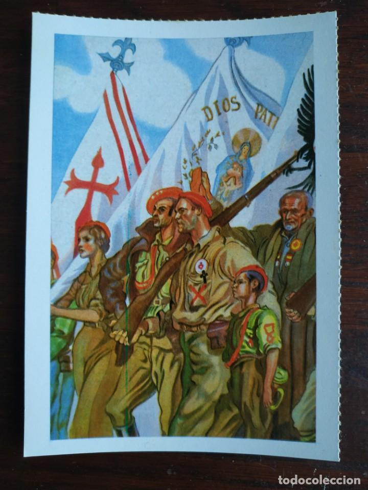 Postales: Una postal imagen sobre la falange española y guerra contra marruecos 4 tarjetas a elegir - Foto 2 - 289866563