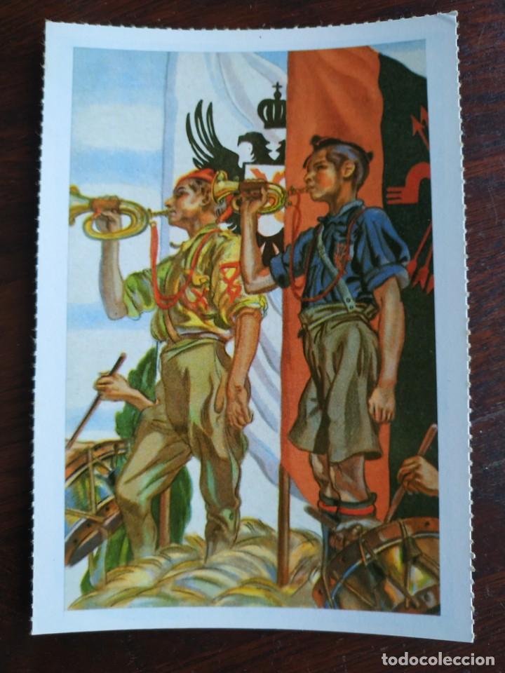 Postales: Una postal imagen sobre la falange española y guerra contra marruecos 4 tarjetas a elegir - Foto 3 - 289866563