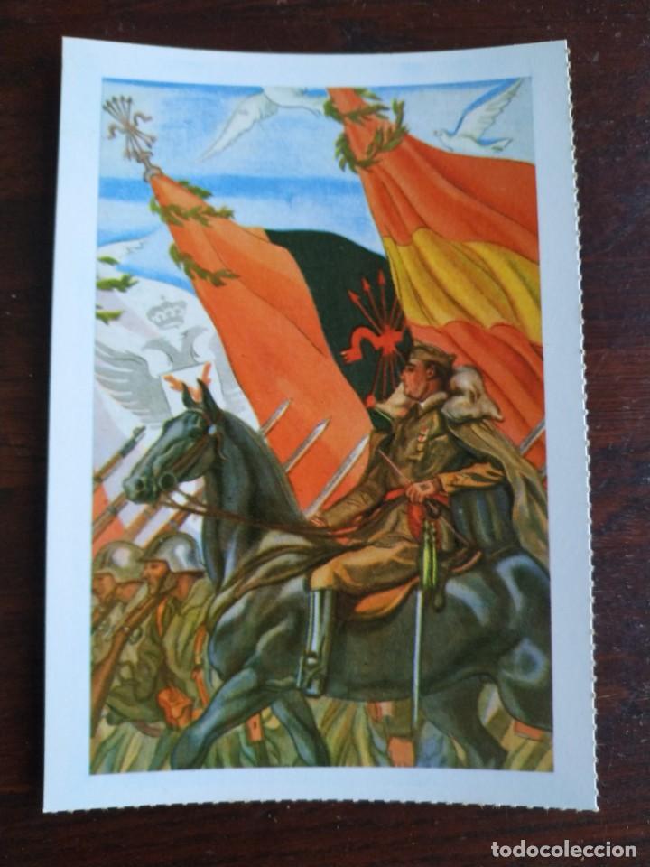 Postales: Una postal imagen sobre la falange española y guerra contra marruecos 4 tarjetas a elegir - Foto 5 - 289866563