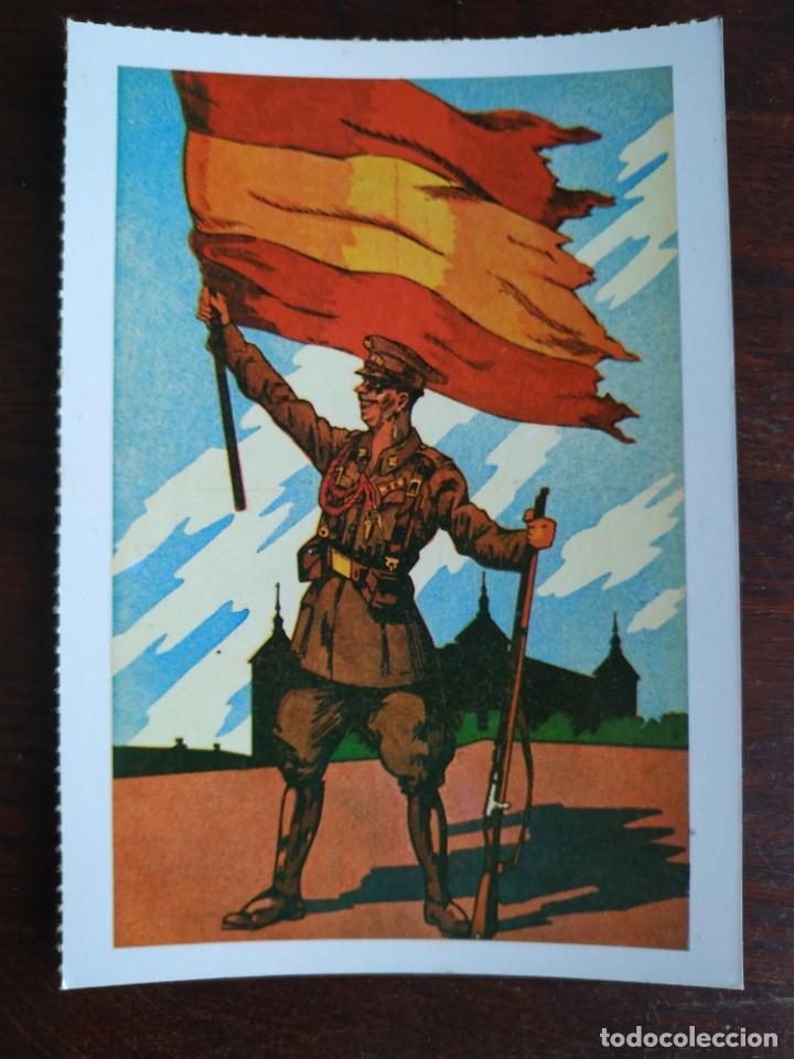 Postales: Una postal imagen falange española y guerra con marruecos pintura a carboncillo 4 tarjetas a elegir - Foto 3 - 289866738
