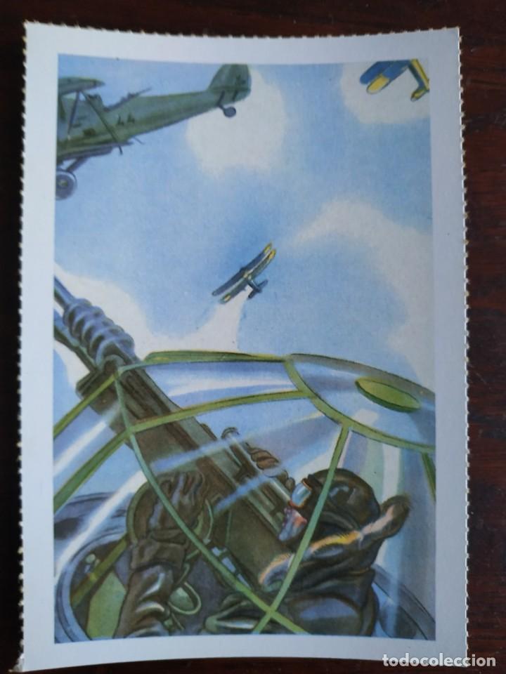 Postales: Una postal imagen falange española y guerra con marruecos pintura a carboncillo 4 tarjetas a elegir - Foto 4 - 289866738