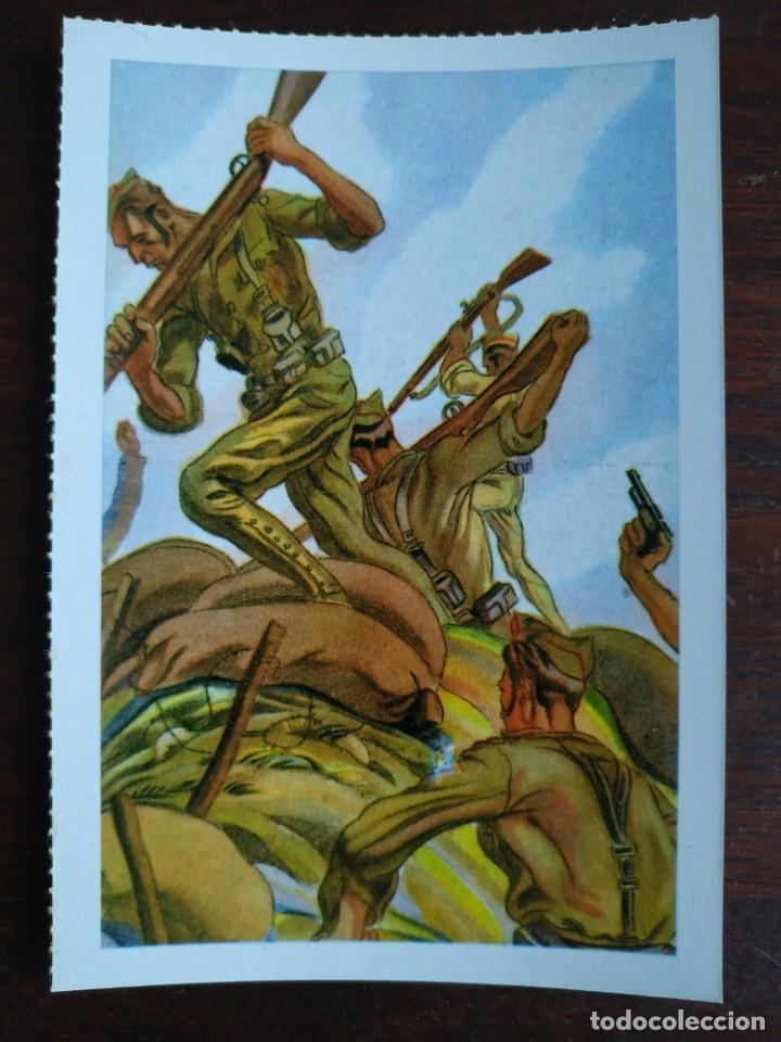 Postales: Una postal imagen falange española y guerra con marruecos pintura a carboncillo 4 tarjetas a elegir - Foto 2 - 289866933
