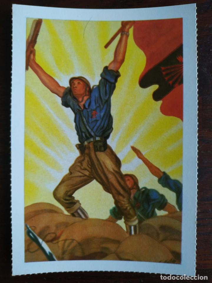 Postales: Una postal imagen falange española y guerra con marruecos pintura a carboncillo 4 tarjetas a elegir - Foto 4 - 289866933