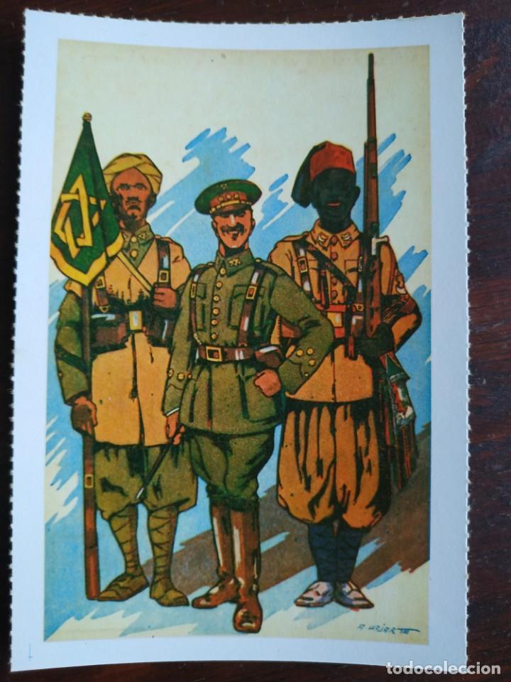 Postales: Una postal imagen falange española y guerra con marruecos pintura a carboncillo 4 tarjetas a elegir - Foto 5 - 289866933