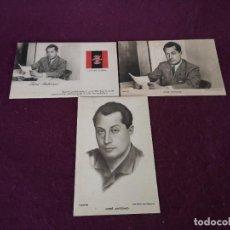 Cartoline: 1940´S, LOTE CON 3 POSTALES CON IMÁGENES DE J. A. PRIMO DE RIVERA, FALANGE. Lote 293204938