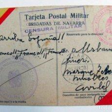 Cartoline: POSTAL ESCRITA DE DE EL CAMPO DE CONCENTRACION DE GALLARTA VIZCAYA A AVILES ASTURIAS. 1938. MINEROS. Lote 293452253