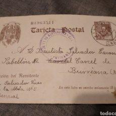 Cartoline: POTAL POS GUERRA CIVIL CARCEL PRISIONERO REPUBLICANO BURRIANA CASTELLON. Lote 294093533
