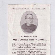 Postales: RECORDATORIO FÚNEBRE PADRE CARMELO MOYANO LINARES. VILLARALTO CÓRDOBA. ASESINADO GUERRA CIVIL. Lote 294453153