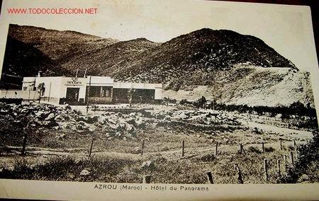ANTIGUA POSTAL DE MARRUECOS, AZROU HOTEL DEL PANORAMA (Postales - Postales Temáticas - Hoteles y Balnearios)