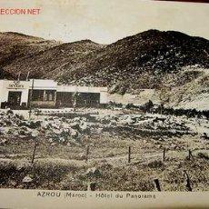 Postales: ANTIGUA POSTAL DE MARRUECOS, AZROU HOTEL DEL PANORAMA. Lote 2515219